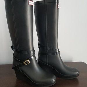 Black Hunter rainboots size 8